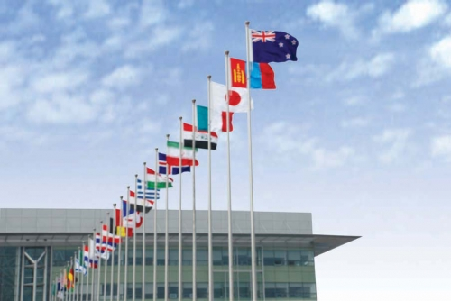 Shouguang International Convention and Exhibition Center flagpole